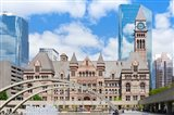 Facade of a government building, Toronto Old City Hall, Toronto, Ontario, Canada Art Print