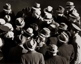 1930s 1940s Elevated View Of Group of Men Art Print