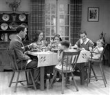1930s Family Of 6 Sitting At The Table Art Print