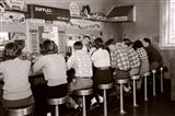 1950s Rear View Of Teenage Boys & Girls? Art Print