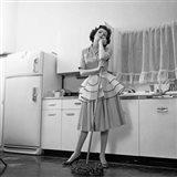 1950s Daydreaming Bored Woman Art Print