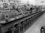 1950s 1960s Interior Of Lunch Counter Art Print