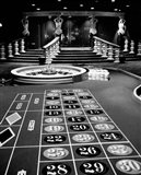 1960s Casino Viewed Of Roulette Table Art Print