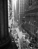 1940s 1945 Aerial View Of Ve Day Celebration In Nyc Art Print
