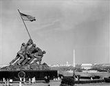 1960s Marine Corps Monument In Arlington Art Print