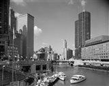 1960s Chicago River From Michigan Avenue Art Print
