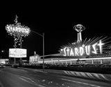 1960s Night Scene Of The Stardust Casino Las Vegas Art Print