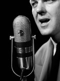1950s Close-Up Of Man Announcer Art Print