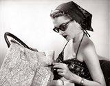 1950s Woman Wearing Bandana Art Print
