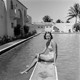 1930s Woman On Pool Diving Board Art Print