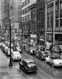 1940s Rainy Day On Chestnut Street Philadelphia Art Print