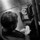 1940s 1950s Man Counting Change Art Print