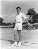 1930s Man Wearing Tennis Whites Art Print