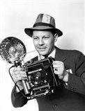 1930s 1940s 1950s Press Photographer Man Art Print
