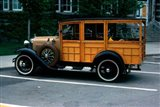1930s Wood Body Station Wagon Antique Art Print