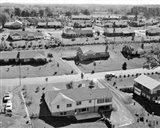 1950s 1960s Aerial View Of Suburban Housing Art Print