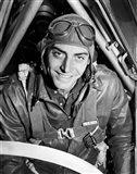 1940s Fighter Airplane Pilot On Us World War Ii Art Print