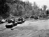 1940s World War Ii 12 Us Army Armored Tanks Art Print