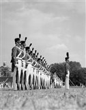 1940s A Row Of Uniformed Military College Cadets Art Print