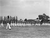 1940s Students Marching Pennsylvania Military College Art Print
