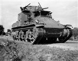 1940s World War Ii Era Us Army Tank Art Print