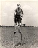 1930s 1940s Smiling Happy Boy Art Print