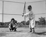 1960s Two Boys Playing Baseball Art Print