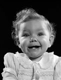 1950s Portrait Baby Girl Smiling With Two Bottom Art Print