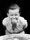 1930s Boy Bobbing For Apples Art Print