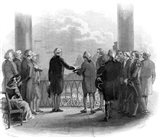 1789 Inauguration Of George Washington As First President Of The USA Art Print