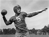 Quarterback About To Toss Football Pass Art Print