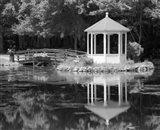 Gazebo Reflected In Pond Seaville NJ Art Print