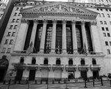 New York Stock Exchange Exerior With US Flags Art Print