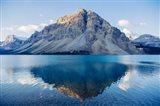Mountain Reflecting In Lake At Banff National Park, Alberta, Canada Art Print