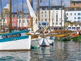 Tall Ships In Rosmeur Harbour In Douarnenez City, Brittany, France Art Print