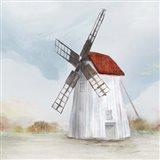 Red Windmill II Art Print