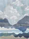 Cloudy Mountains I Art Print