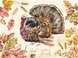 Watercolor Harvest Turkey Art Print