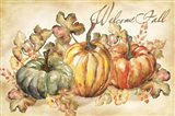 Watercolor Harvest Welcome Fall Art Print