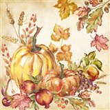Watercolor Harvest Pumpkins I Art Print