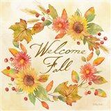 Welcome Fall Square II -Be Grateful Art Print