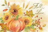 Welcome Fall Landscape -Fall in Love Art Print