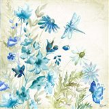 Wildflowers and Butterflies Square I Art Print