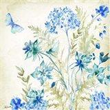 Wildflowers and Butterflies Square II Art Print