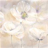 White Poppies I Art Print