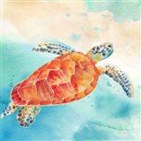 Sea Splash Sea Turtle Art Print