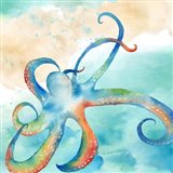 Sea Splash Octopus Art Print
