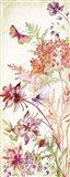 Colorful Wildflowers and Butterflies Panel II Art Print