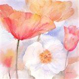 Watercolor Poppy Meadow Pastel I Art Print