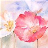 Watercolor Poppy Meadow Pastel II Art Print